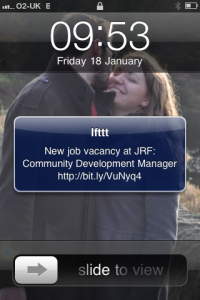 JRF jobs text from IFTTT - screengrab2